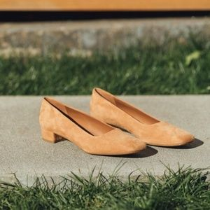By Far Romy Nude Suede Shoes - 40 IT - Brand New
